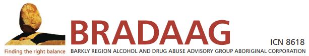 Barkly Region Alcohol & Drug Abuse Advisory Group (BRADAAG) Logo